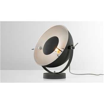 Chicago Table Lamp, Black & Silver (H35 x W30 x D15cm)