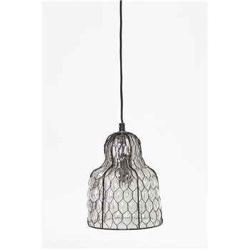 Chicken Wire Ceiling Light - Clear (H20 x W16 x D16cm)