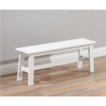 Chiltern Large White Bench (45 x 120cm)