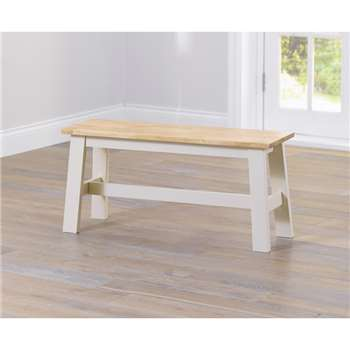 Chiltern Oak and Cream Bench (45 x 95cm)
