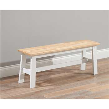 Chiltern Oak and White Large Bench (45 x 120cm)