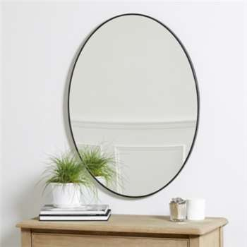 Chiltern Thin Metal Oval Mirror (81 x 61cm)