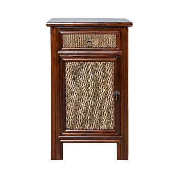 China Club Bedside Cabinet - Brown (69 x 42cm)