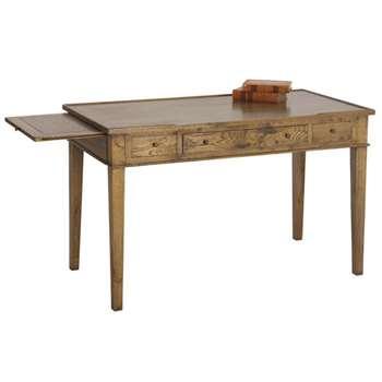 Chinon Antique Oak Desk (79 x 125cm)