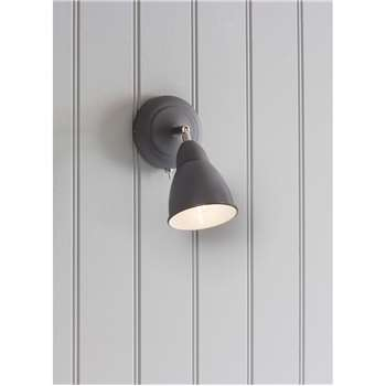 Chiswick Wall Light in Charcoal - Steel (19 x 10.5cm)