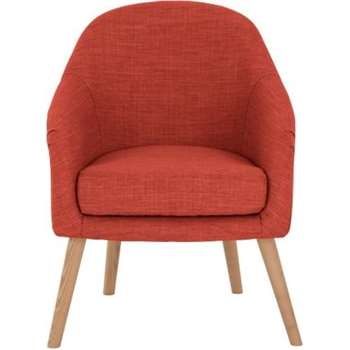 Chloe Accent Chair, Tuscan Orange (68 x 65cm)