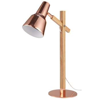 CHLOE Copper-coloured metal adjustable lamp (Height 56.5cm)