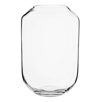 CHLOE - Glass Vase (H24.5 x W16 x D16cm)