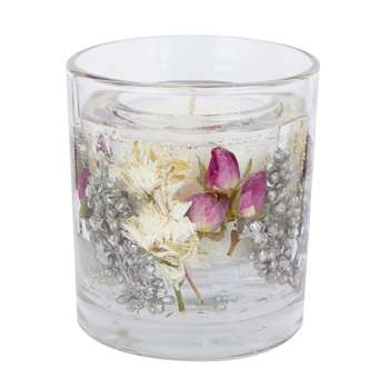 Christmas Rose Gel Candle (H9 x W8 x D8cm)