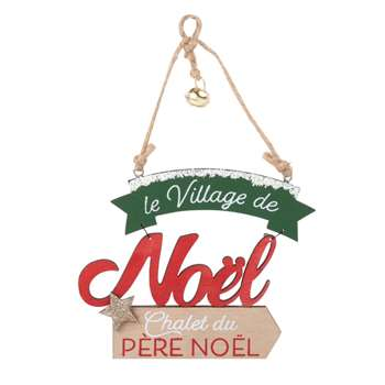 Christmas Sign Hanging Decoration (H10 x W10.5 x D0.5cm)