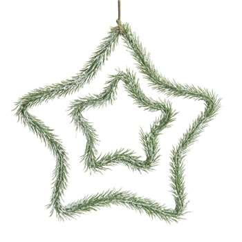 Christmas Tree Branch Effect Star Hanging Decoration (H25 x W25 x D2cm)