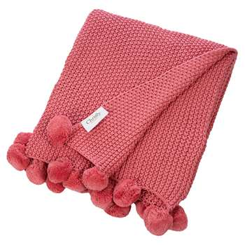Christy - Bon Bon Throw - Coral (H100 x W120cm)