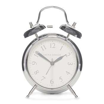 Chrome Medium Bell Alarm Clock (17 x 12cm)