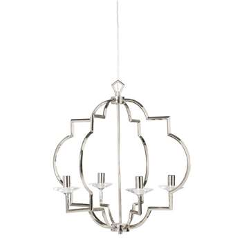 LEONE Chrome Metal Pendant (59.5 x 58cm)