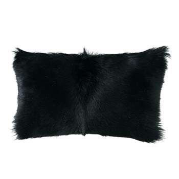 Chyangra Goat Hair Cushion Cover - Ebony (30 x 50cm)