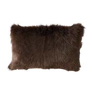 Chyangra Goat Hair Cushion Cover - Sable (30 x 50cm)