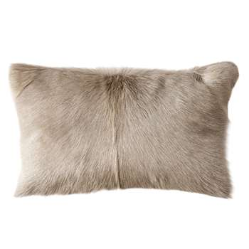 Chyangra Goat Hair Cushion Cover - Silver (H30 x W50cm)