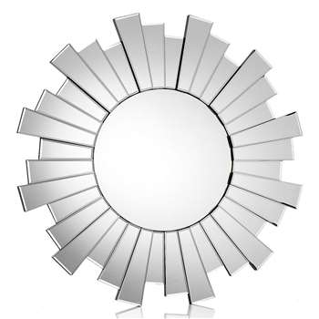 Circle Sunburst Mirror - Clear (Diameter 80cm)