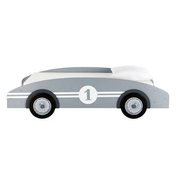 CIRCUIT Wooden 90 x 190cm child's car bed in grey (Width 102cm)
