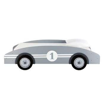 CIRCUIT Wooden 90 x 190cm child's car bed in grey (Width 102cm)