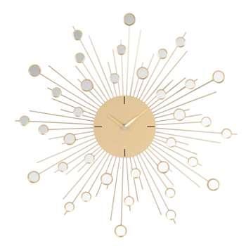 CIREBON Decorative Gold Metal Clock (H50 x W50 x D5cm)