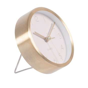 CLARA - Pink and gold table clock (Diameter 9cm)