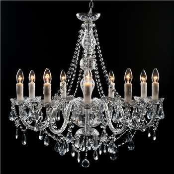 Clarence Chandelier - 9 Light (Height 75cm)