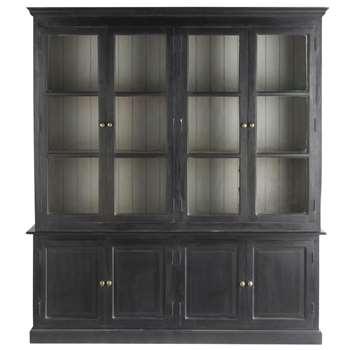 CLARENCE Mango wood dresser in black (220 x 198cm)