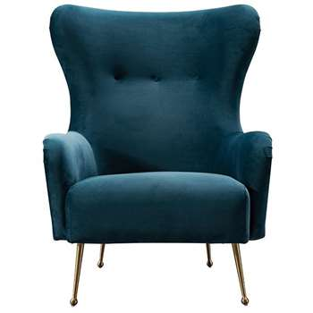 Claridge Armchair Peacock (H101 x W89 x D78cm)