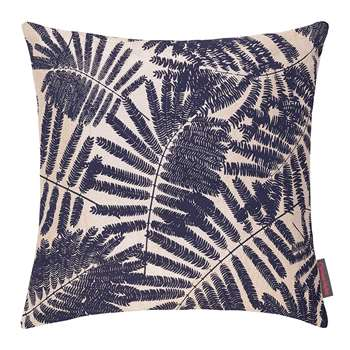 Clarissa Hulse - Espinillo Cushion - Metallic Natural Linen/Ink (45 x 45cm)