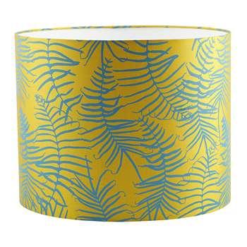 Clarissa Hulse - Feather Fern Lamp Shade - Tumeric/Kingfisher (24 x 31cm)