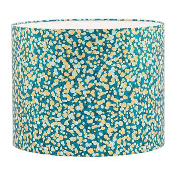 Clarissa Hulse - Garland Lamp Shade - Kingfisher/Peacock/Duck Egg/Gold - Medium (24 x 31cm)