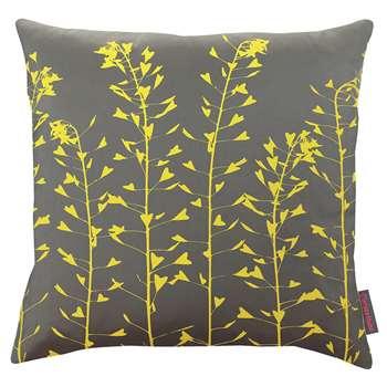 Clarissa Hulse - Heart Grasses Cushion - Storm/Sulphur (45 x 45cm)