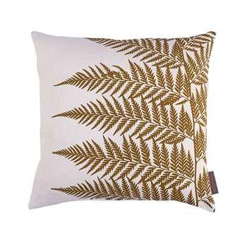 Clarissa Hulse - Lady Fern Cushion - 45x45cm - White/Olive