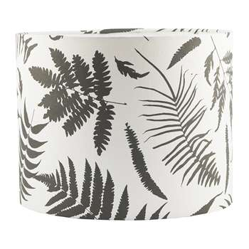 Clarissa Hulse - Scattered Fern Lamp Shade - White/Storm - (24 x 31cm)