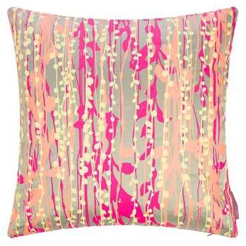 Clarissa Hulse - St Lucia Cushion - Pebble/Pink/Coral/Lemon (H45 x W45cm)