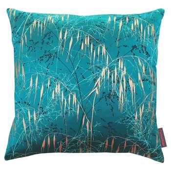 Clarissa Hulse - Three Grasses Cushion - 45x45cm - Kingfisher/Aqua