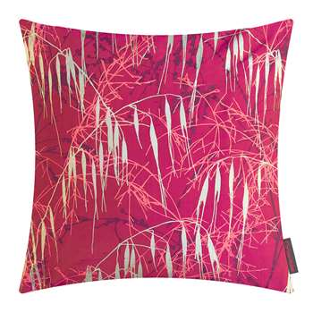 Clarissa Hulse - Three Grasses Cushion - Hot Pink/Fuschia/Gold (H45 x W45cm)