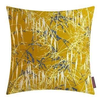 Clarissa Hulse - Three Grasses Cushion - Turmeric/Storm/Lemon (H45 x W45cm)