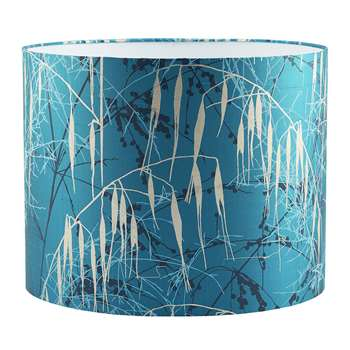 Clarissa Hulse - Three Grasses Lamp Shade - Kingfisher/Aqua (24 x 31cm)