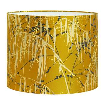 Clarissa Hulse - Three Grasses Lamp Shade - Tumeric/Storm/Lemon - Medium (H24 x W31 x D31cm)