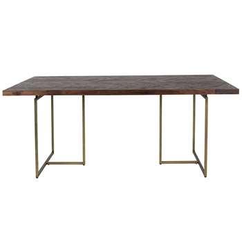 Class Dining Table in Retro Herringbone Design - Large (Width 90cm)