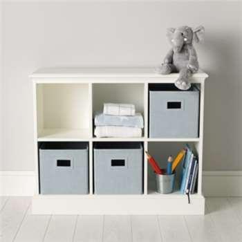 Classic 6 Cube Storage Unit - White (Width 102cm)