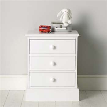 Classic Bedside Table - White (63 x 50cm)