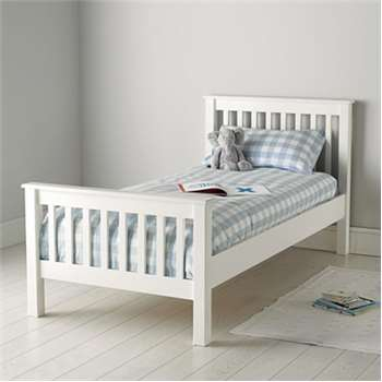 Classic Single Bed - White (98 x 207 x 103cm)