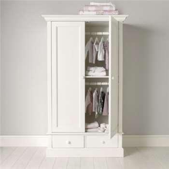 Classic Small Wardrobe - White (Width 106cm)