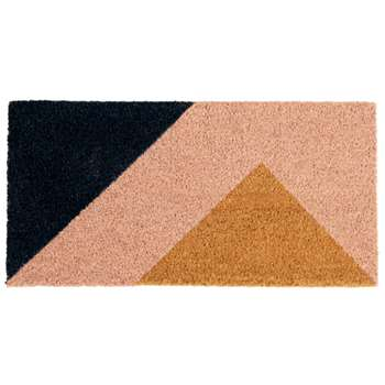 Claudia - Pink and Black Printed Doormat (H30 x W60cm)