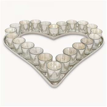 Claymore Heart Votive Tray (7 x 53cm)