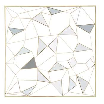 CLAYTON Gold Metal Mirror Wall Art (98 x 98cm)