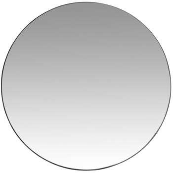CLEMENT - Black Metal Mirror (Diameter 90cm)